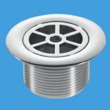 McAlpine Chrome Plastic 70mm Shower Flange Long Tail - 74000600